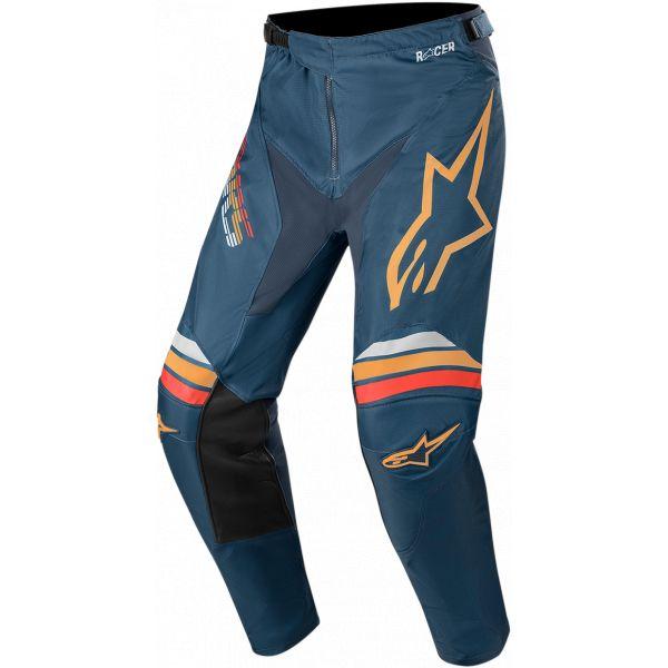 Pantaloni MX-Enduro Alpinestars Pantaloni MX Racer Braap S20 Navy/Orange