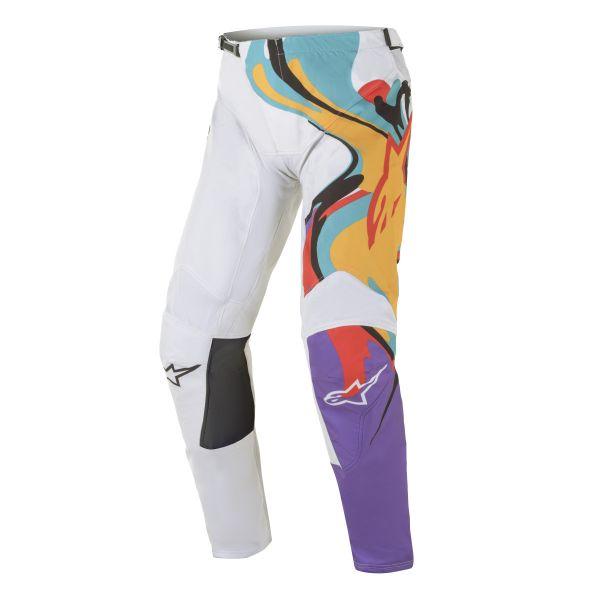 Pantaloni MX-Enduro Alpinestars Pantaloni MX Racer Flagship Multicolor/Alb 2021
