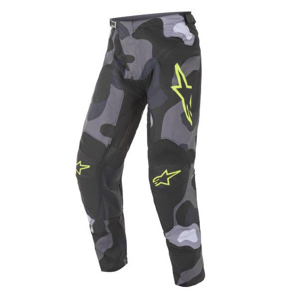 Pantaloni MX-Enduro Alpinestars Pantaloni MX Racer Tactical Camuflaj/Galben Fluo 2021