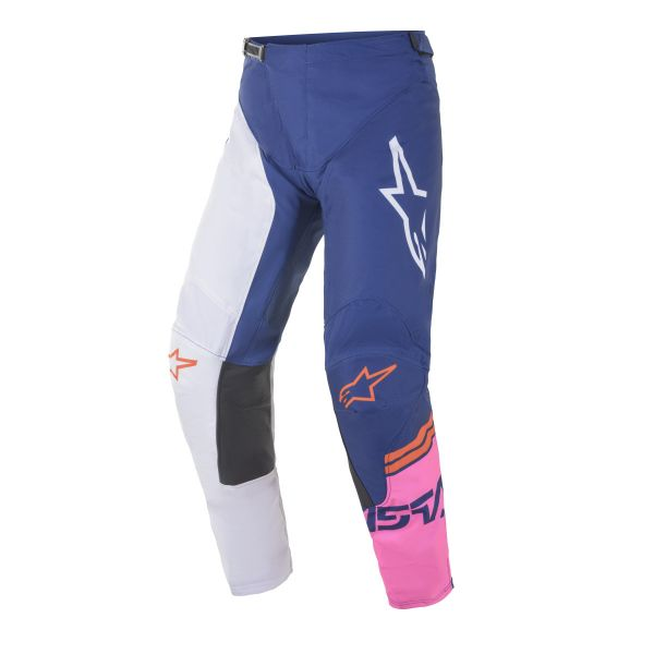 Pantaloni MX-Enduro Alpinestars Pantaloni MX Racer Tech Compass Multicolor/Albastru 2021