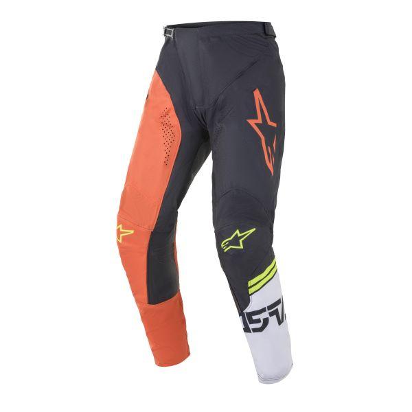Pantaloni MX-Enduro Alpinestars Pantaloni MX Racer Tech Compass Multicolor/Portocaliu 2021
