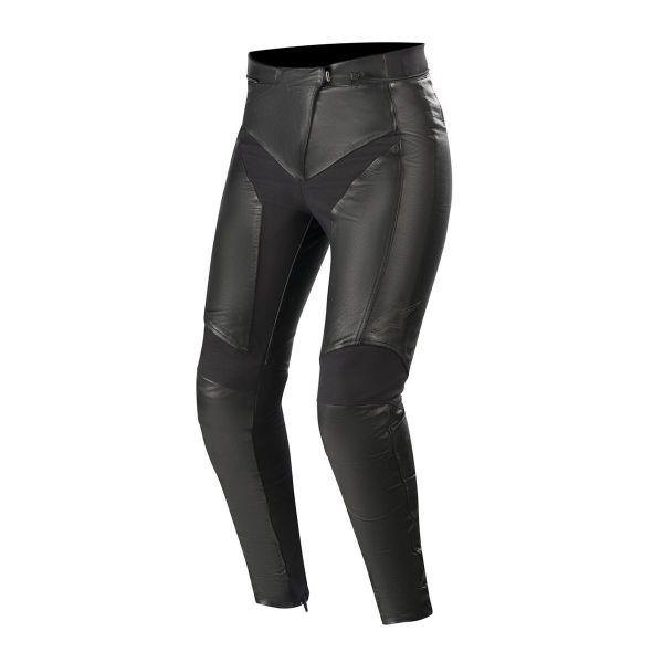 Pantaloni Moto Piele - Dama Alpinestars Pantaloni Piele Vika V2 Dama