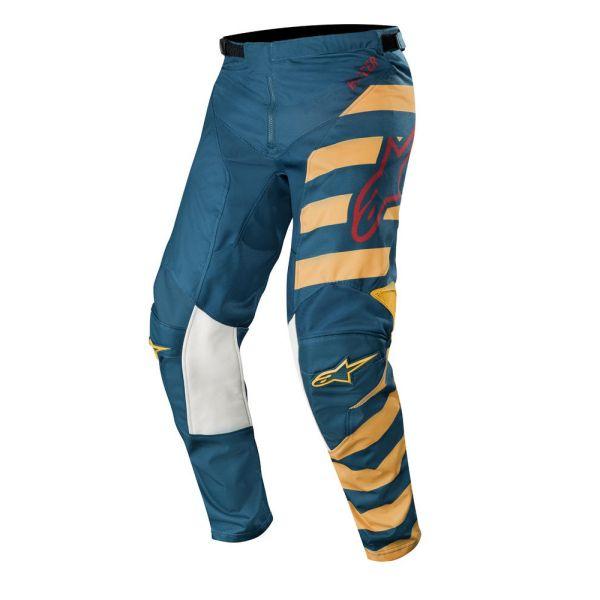 Pantaloni MX-Enduro Alpinestars Pantaloni Racer Braap Petrol/Tan/Maroon S9