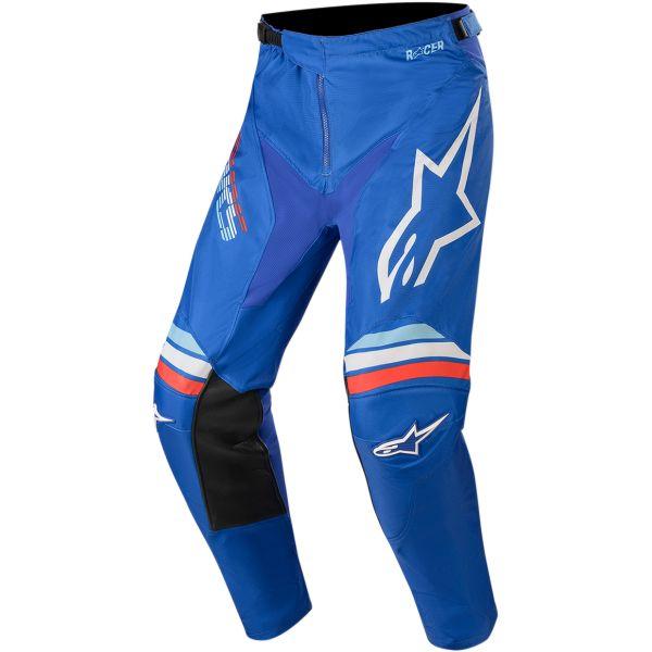 Pantaloni MX-Enduro Alpinestars Pantaloni Racer Braap S20 Blue/White