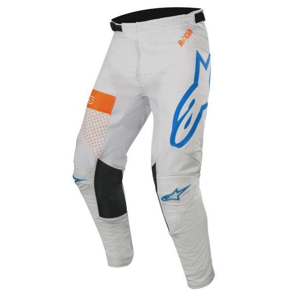 Pantaloni MX-Enduro Alpinestars Pantaloni Racer Tech Atomic Gray/Blue/Orange S9