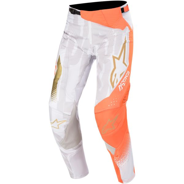 Pantaloni MX-Enduro Alpinestars Pantaloni Techstar Factory  Metal S20 White/Orange/Gold