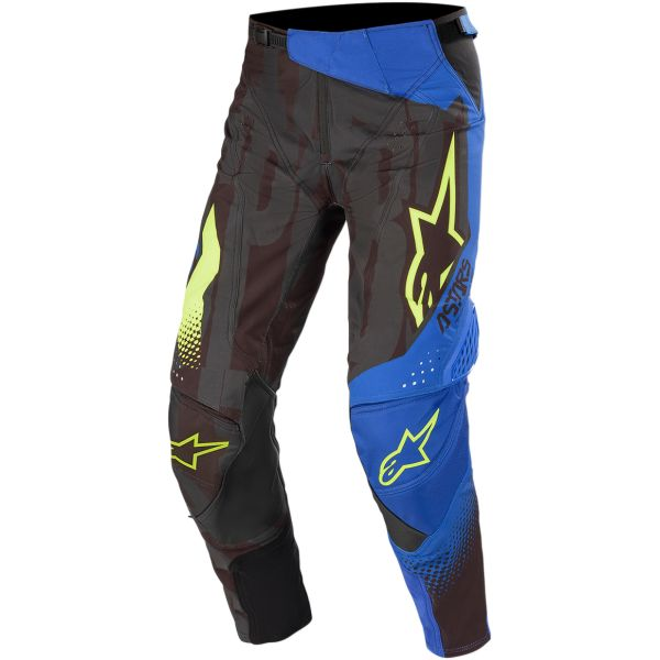 Pantaloni MX-Enduro Alpinestars Pantaloni Techstar Factory S20 Black/Blue/Yellow