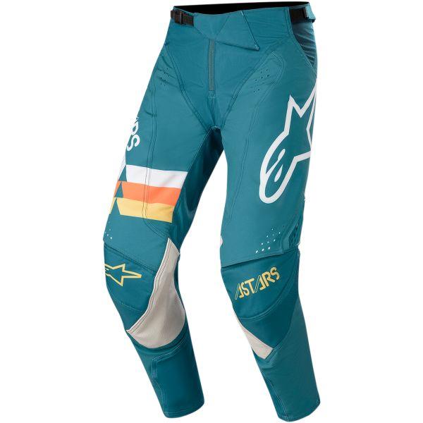 Pantaloni MX-Enduro Alpinestars Pantaloni Techstar Venom S20 Petrol/Orange