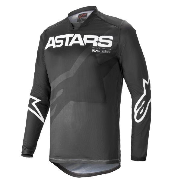 Tricouri MX-Enduro Alpinestars Racer Braap MX Jersey Black/White 2021