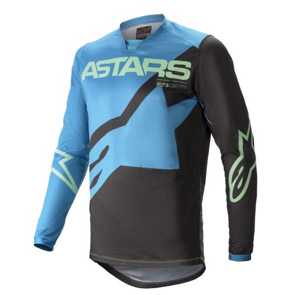 Tricouri MX-Enduro Alpinestars Racer Braap MX Jersey Blue/Mint 2021
