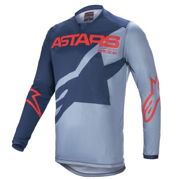 Tricouri MX-Enduro Alpinestars Racer Braap MX Jersey Blue/Red 2021