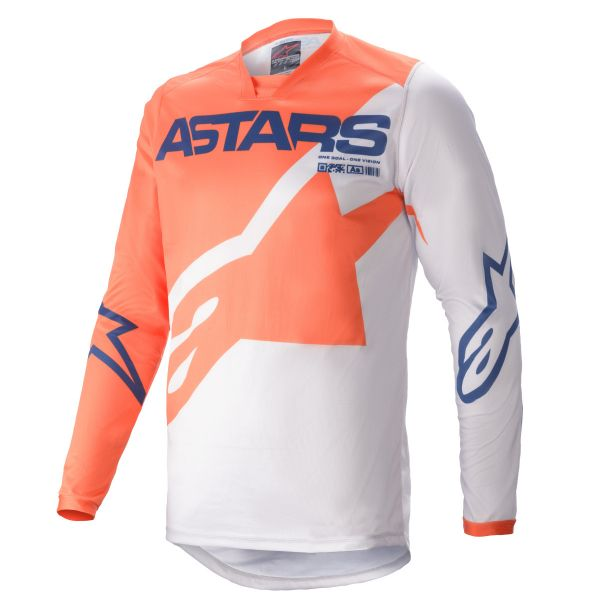 Tricouri MX-Enduro Alpinestars Racer Braap MX Jersey Multicolor/Orange 2021