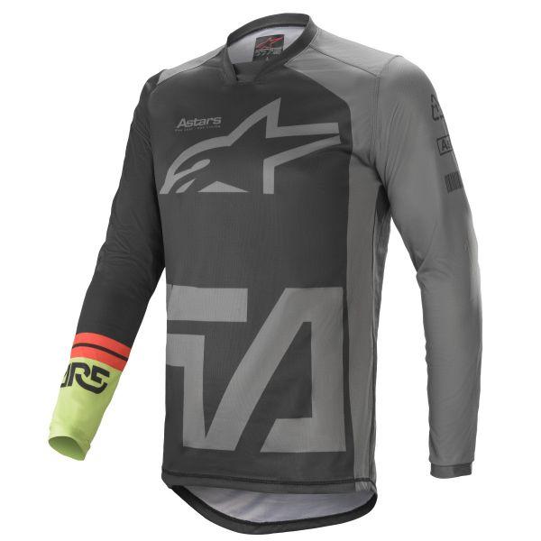 Tricouri MX-Enduro Alpinestars Racer Compass MX Jersey Multicolor/Grey 2021