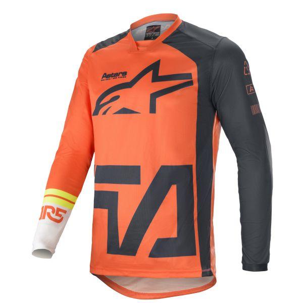 Tricouri MX-Enduro Alpinestars Racer Compass MX Jersey Multicolor/Orange 2021