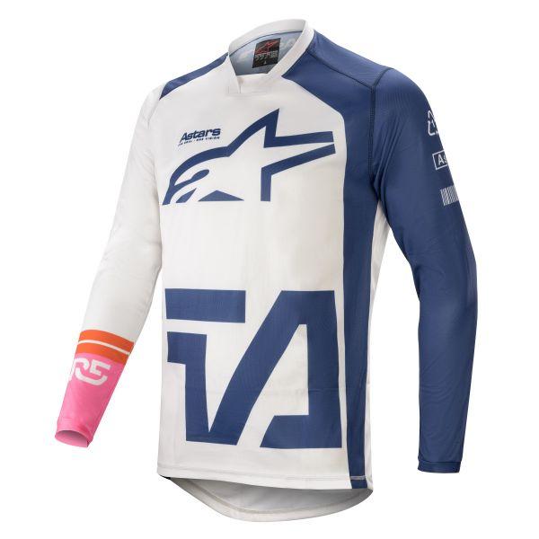 Tricouri MX-Enduro Alpinestars Racer Compass MX Jersey Multicolor/White 2021
