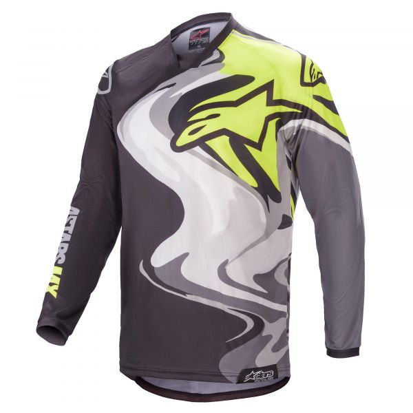 Tricouri MX-Enduro Alpinestars Racer Flagship MX Jersey Multicolor/Black 2021