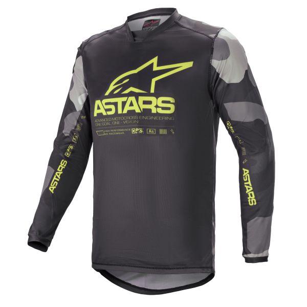 Tricouri MX-Enduro Alpinestars Racer Tactical MX Jersey Grey/Camo/Galben 2021