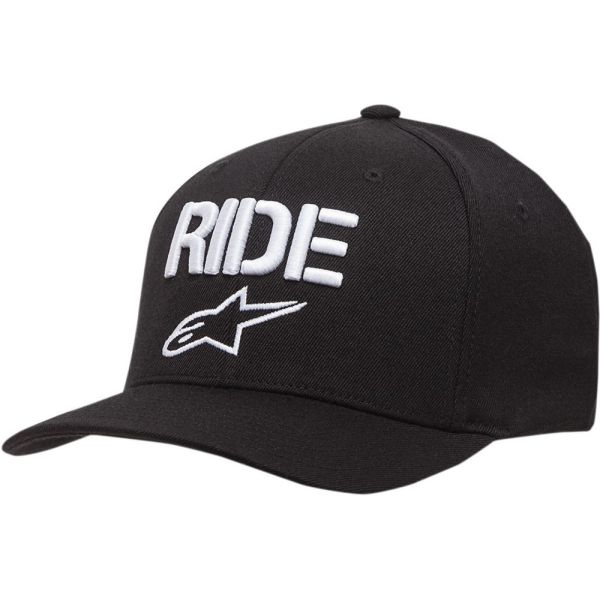 Sepci Alpinestars Sapca Ride Curved Bill Black/White