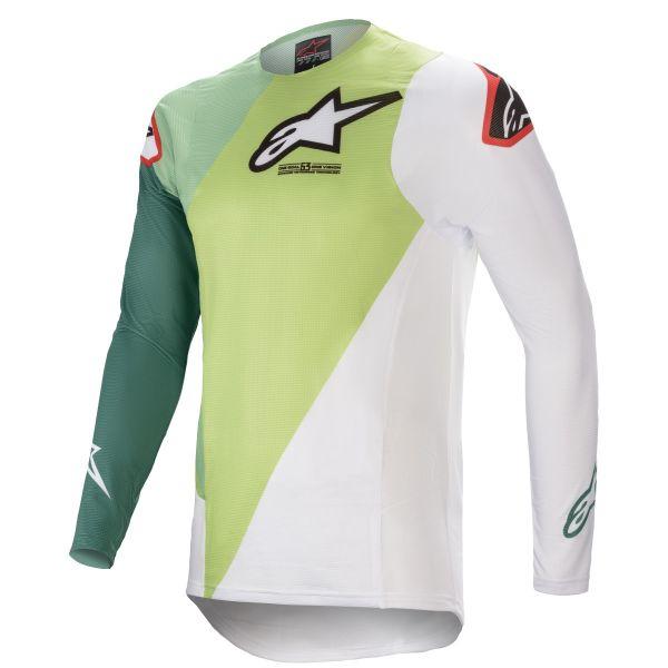 Tricouri MX-Enduro Alpinestars Supertech Blaze MX Jersey Green/White 2021