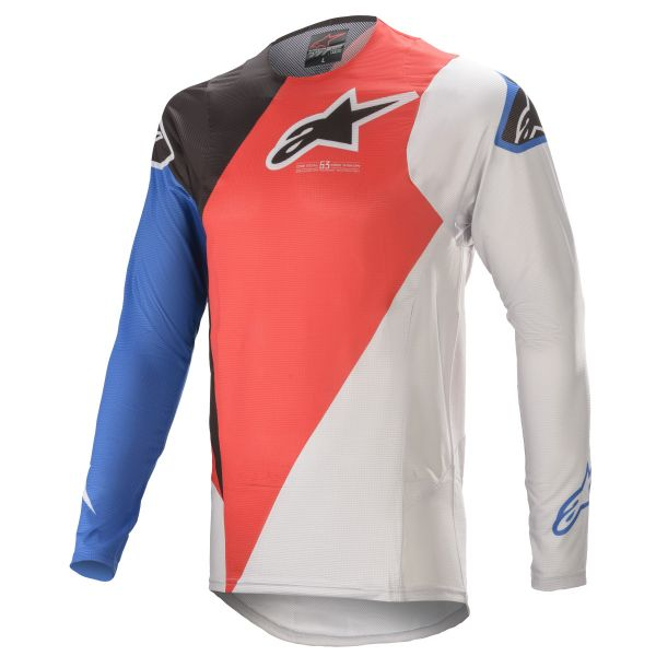 Tricouri MX-Enduro Alpinestars Supertech Blaze MX Jersey Red/Blue 2021