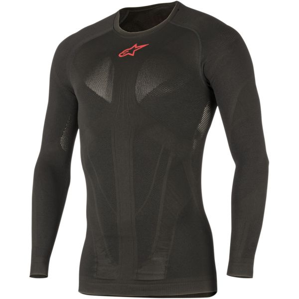 Lenjerie Protectie Alpinestars Tech Long Sleeve MX Layer Summer Black/Red