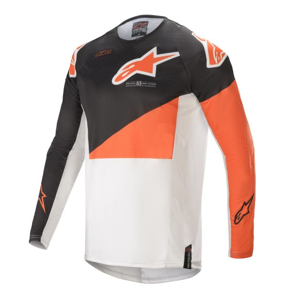 Tricouri MX-Enduro Alpinestars Techstar Factory MX Jersey Multicolor/Orange 2021