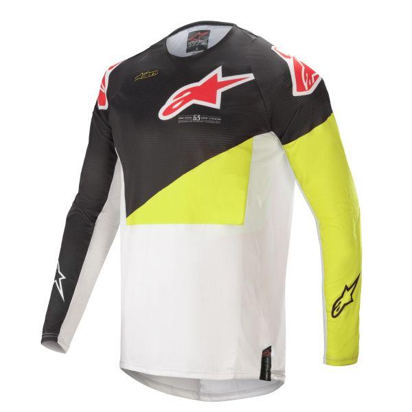 Tricouri MX-Enduro Alpinestars Techstar Factory MX Jersey Multicolor/Yellow 2021