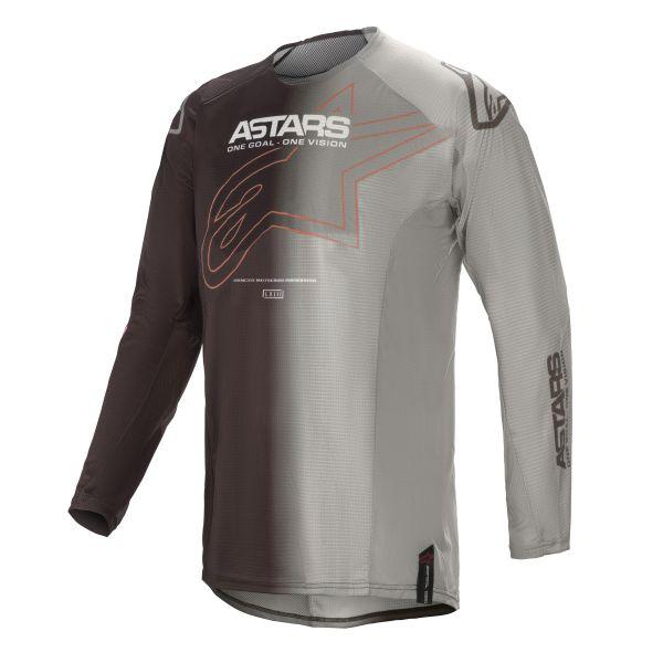Tricouri MX-Enduro Alpinestars Techstar Phantom MX Jersey Anthracite/Orange 2021