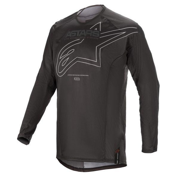 Tricouri MX-Enduro Alpinestars Techstar Phantom MX Jersey Black/White 2021