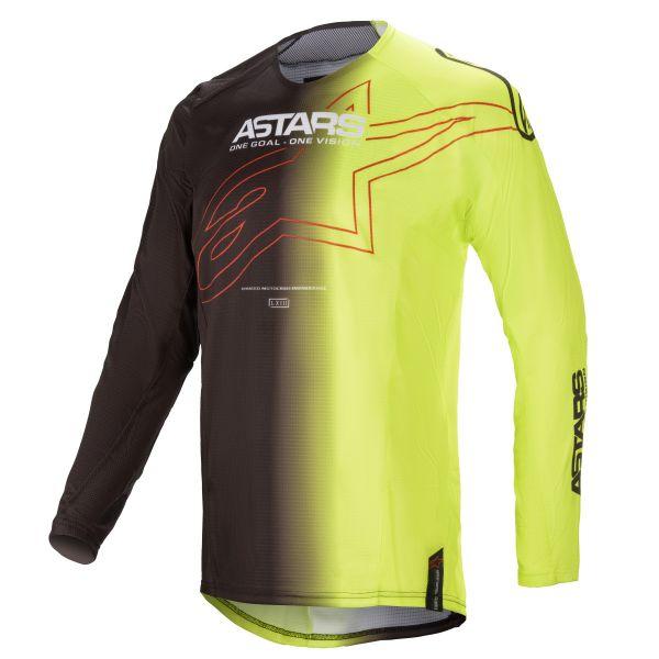 Tricouri MX-Enduro Alpinestars Techstar Phantom MX Jersey Black/Yellow 2021