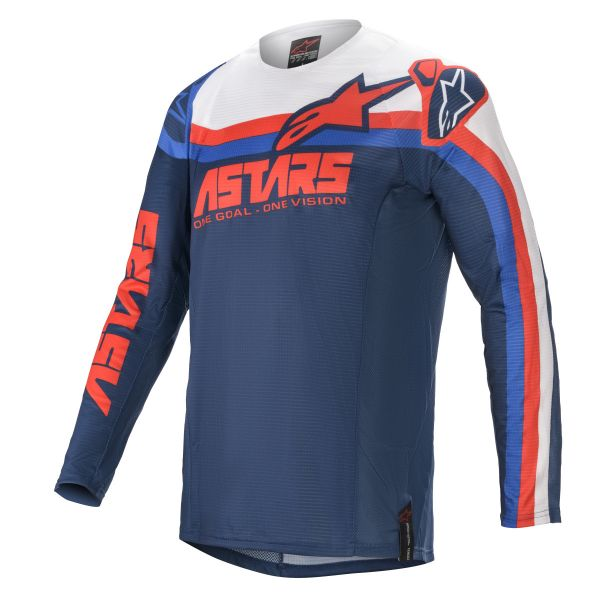Tricouri MX-Enduro Alpinestars Techstar Venom MX Jersey Multicolor/Blue 2021