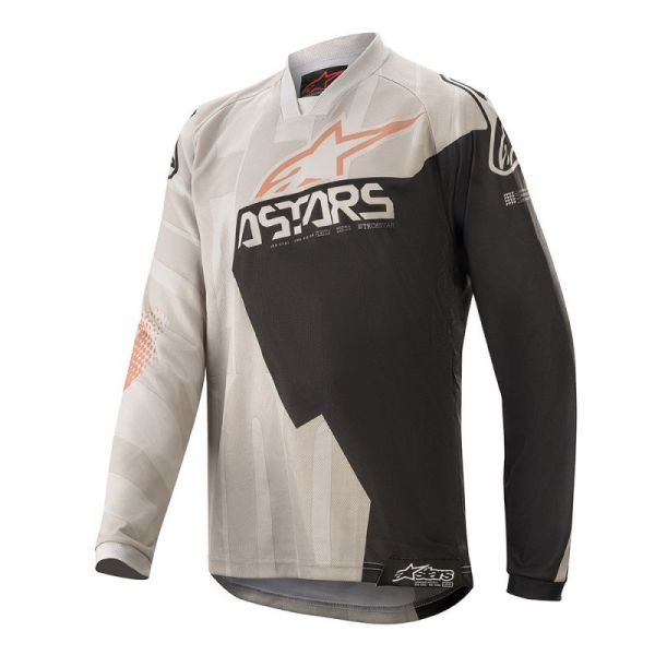 Tricouri MX-Enduro Copii Alpinestars Tricou Copii Factory Racer S20 Grey/Black/Rust