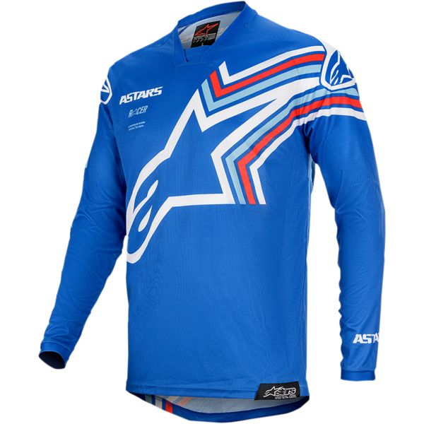 Tricouri MX-Enduro Copii Alpinestars Tricou Copii Racer Braap S20 Blue/White