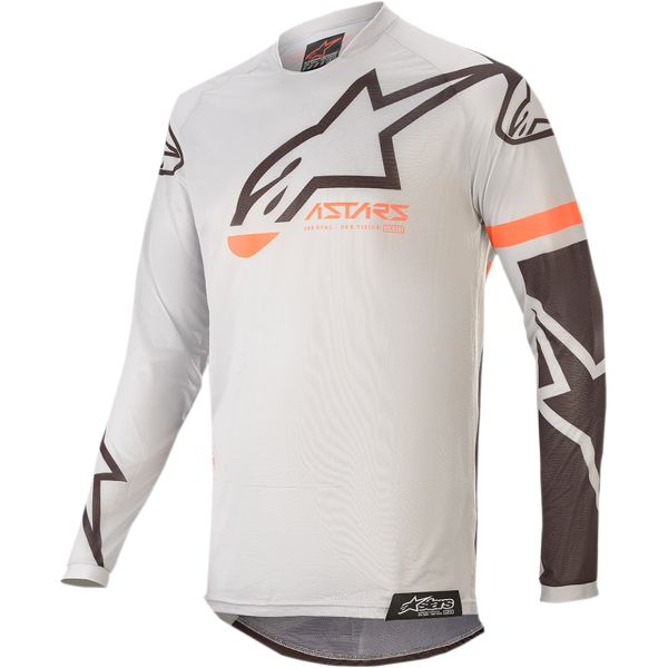 Tricouri MX-Enduro Copii Alpinestars Tricou Copii Racer Compass S20 Gray/Black