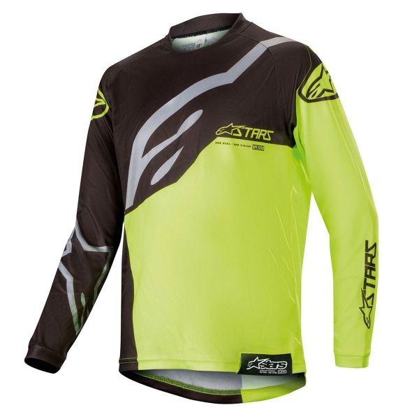 Tricouri MX-Enduro Copii Alpinestars Tricou Copii Racer Factory Black/Yellow