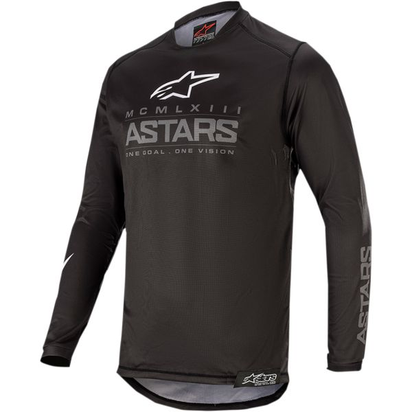Tricouri MX-Enduro Copii Alpinestars Tricou Copii Racer Graphite S20 Black/Gray