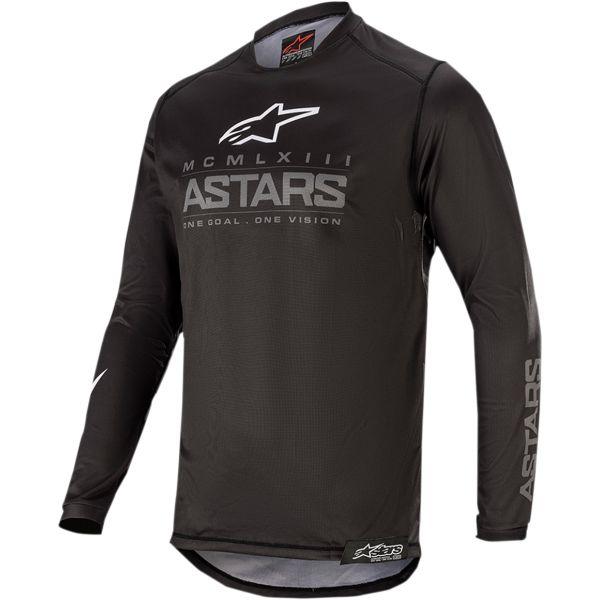 Tricouri MX-Enduro Copii Alpinestars Tricou Copii Racer Graphite S20 Black/Gray