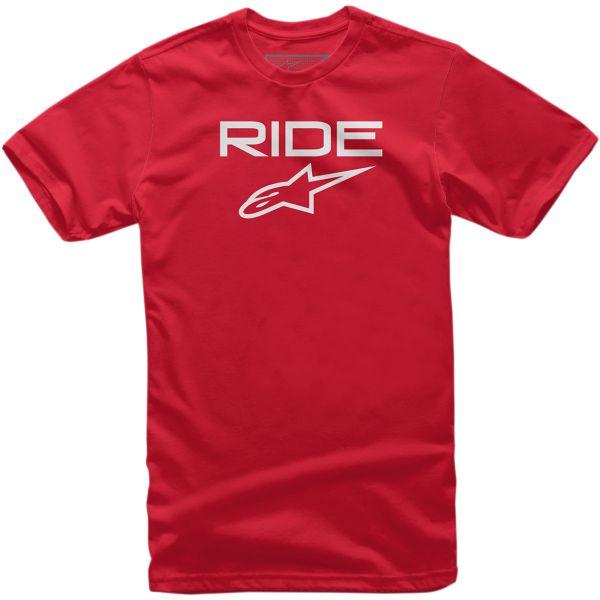 Imbracaminte Copii Alpinestars Tricou Copii Ride 2.0 S20 Red/White