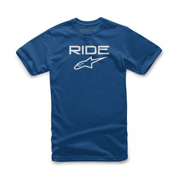 Imbracaminte Copii Alpinestars Tricou Copii Ride 2.0 S20 Royal Blue/White