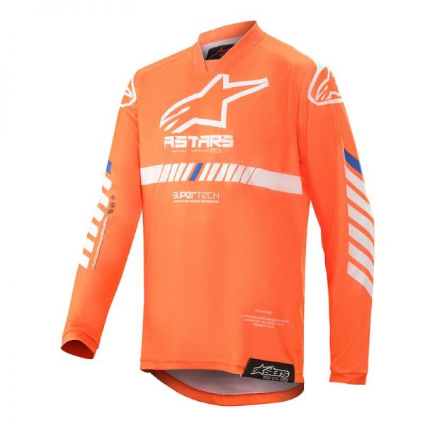 Tricouri MX-Enduro Copii Alpinestars Tricou Copii Tech Racer S20 Orange/Blue