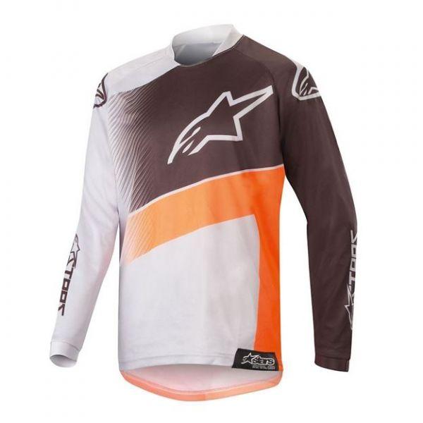Tricouri MX-Enduro Copii Alpinestars Tricou MX Copii Racer Supermatic Multicolor/Gri 2020