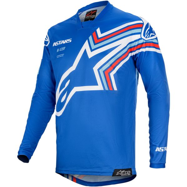 Tricouri MX-Enduro Alpinestars Tricou Racer Braap S20 Blue/White