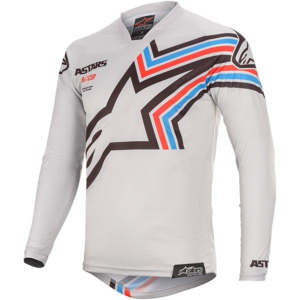 Tricouri MX-Enduro Alpinestars Tricou Racer Braap S20 Gray/Black
