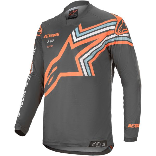 Tricouri MX-Enduro Alpinestars Tricou Racer Braap S20 Gray/Orange