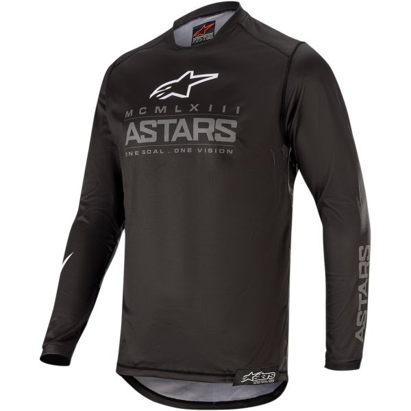 Tricouri MX-Enduro Alpinestars Tricou Racer Supermatic S20 Black/Gray