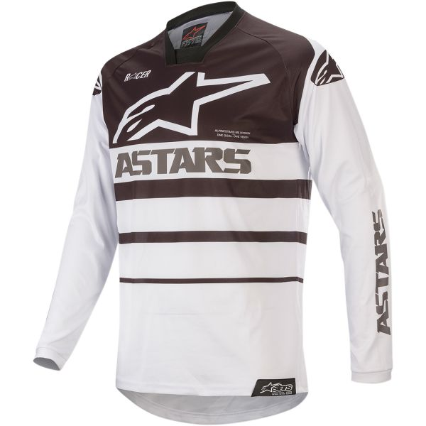Tricouri MX-Enduro Alpinestars Tricou Racer Supermatic S20 Black/White