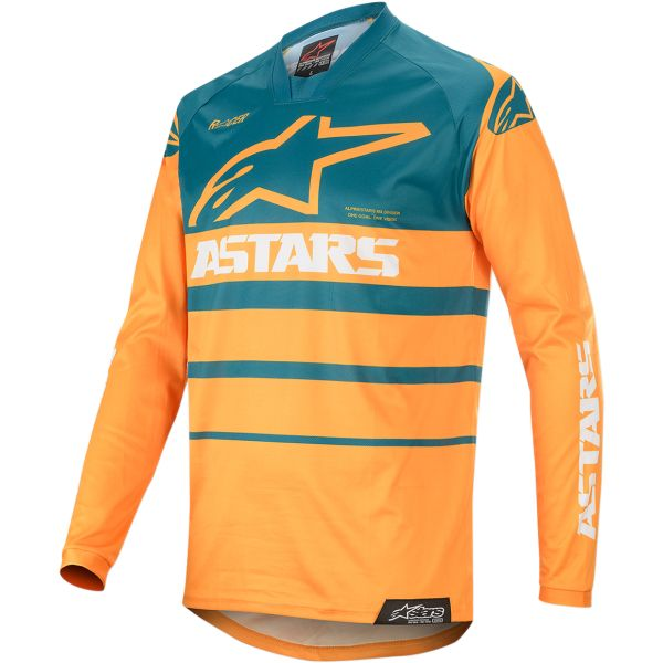 Tricouri MX-Enduro Alpinestars Tricou Racer Supermatic S20 Orange/Blue