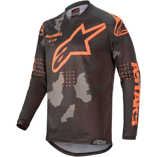 Tricouri MX-Enduro Alpinestars Tricou Racer Tactical S20 Camo/Orange