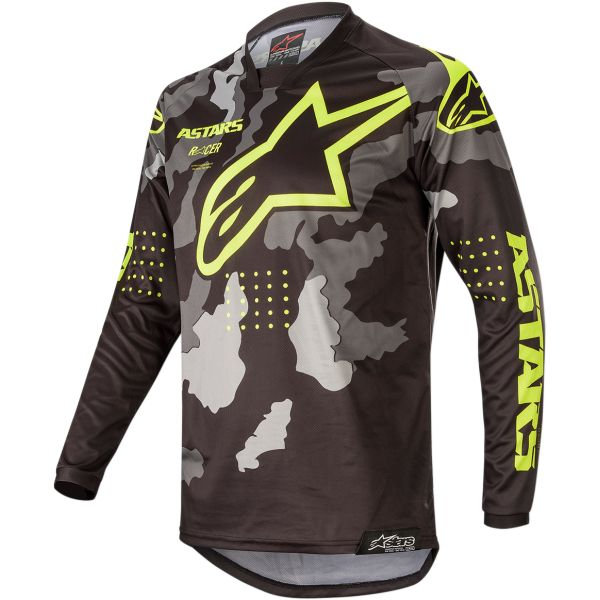 Tricouri MX-Enduro Alpinestars Tricou Racer Tactical S20 Camo/Yellow