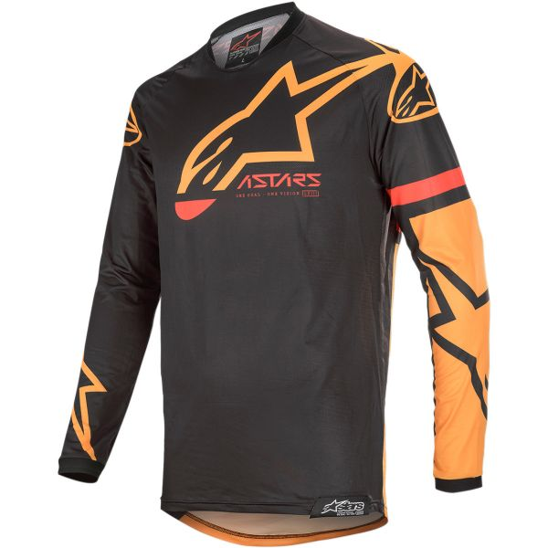 Tricouri MX-Enduro Alpinestars Tricou Racer Tech Compass S20 Black/Orange